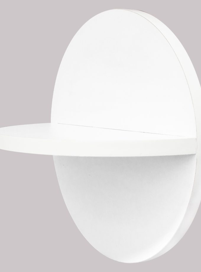 Repisa Flotante Circular - Blanca