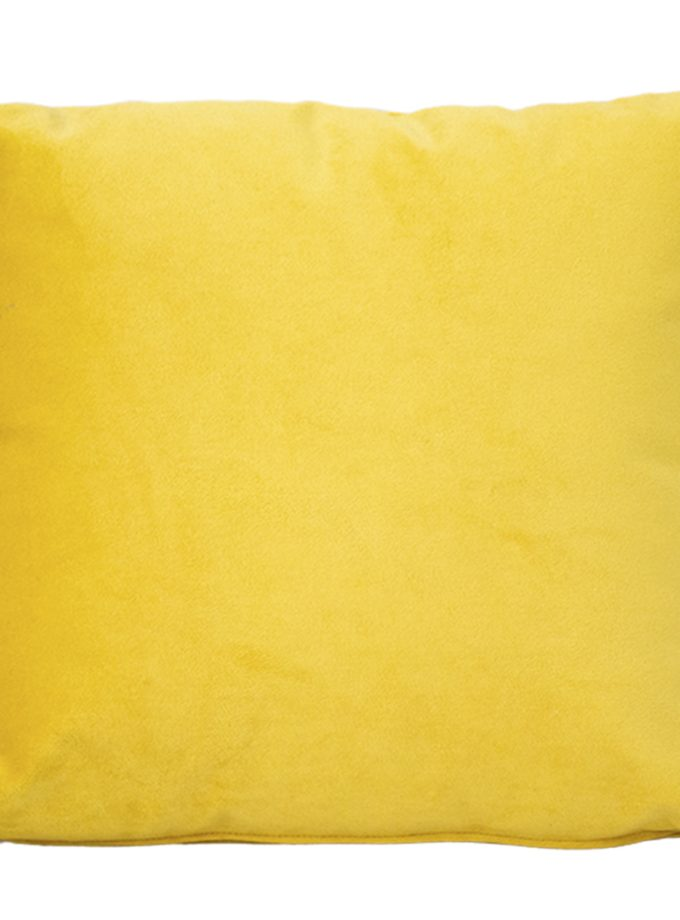 Juego de 2 Cojines lisos 45×45 cm – Mostaza