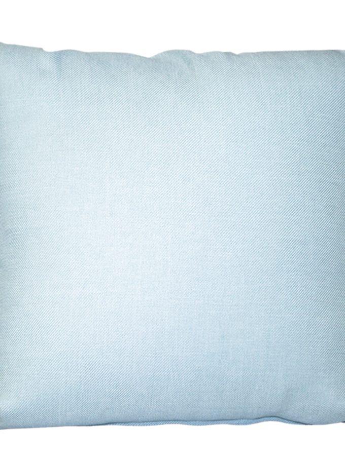 Juego de 2 Cojines lisos 45×45 cm – Celeste