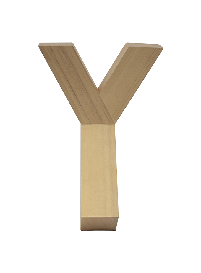 "Perchero de pared ""Y"" – Natural"