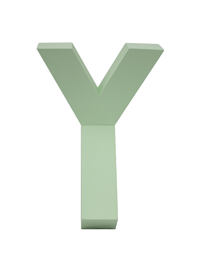"Perchero de pared ""Y"" – Verde"
