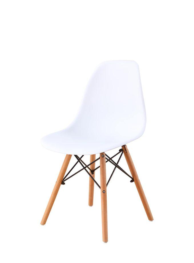 Set de 4 sillas comedor réplica Eams Blanco