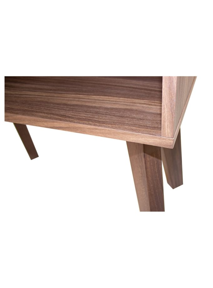 Mesa Lateral Matt Rectangular patas madera