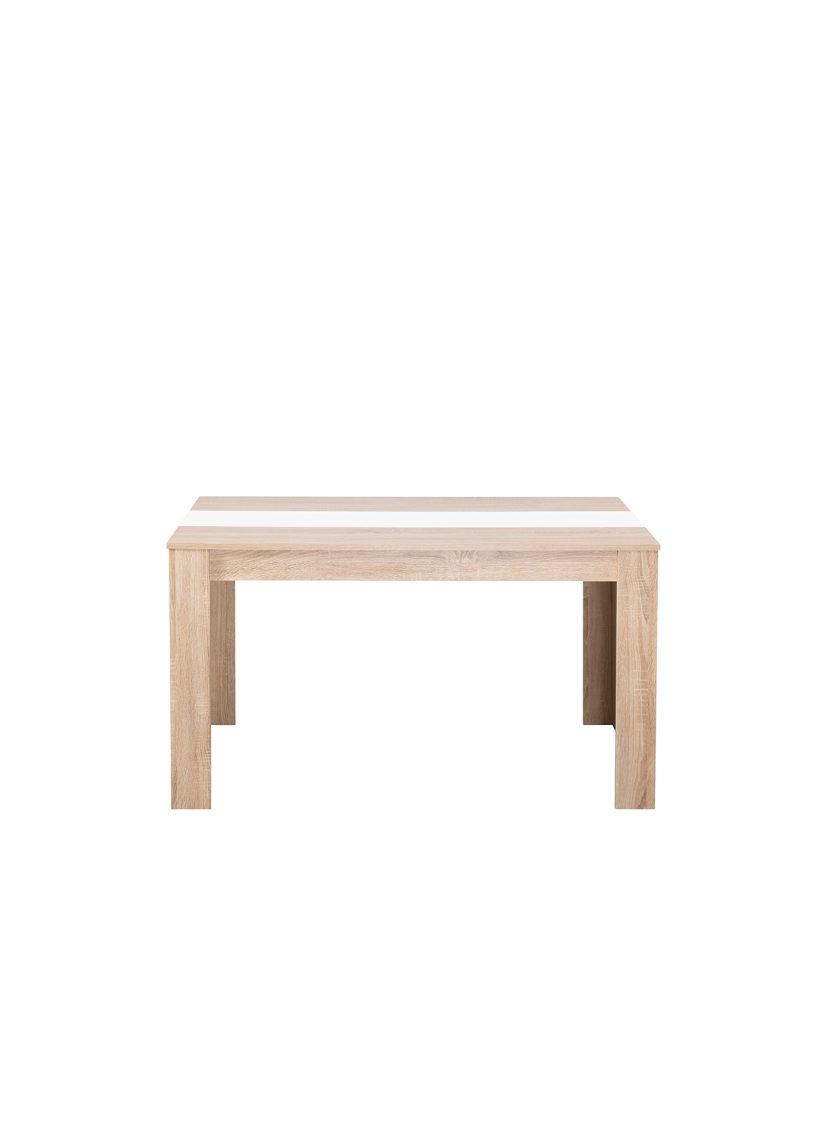 Mesa de comedor Peruggia Roble/Blanco