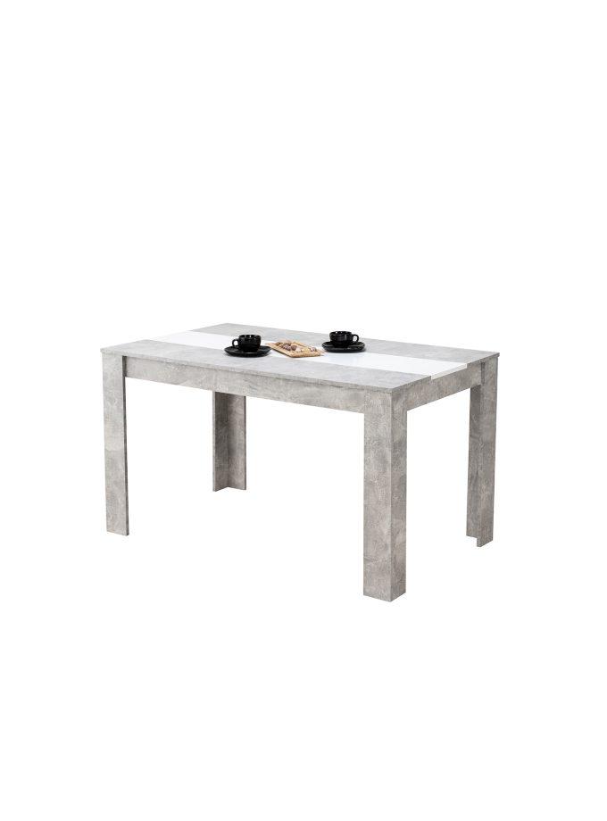 Mesa de comedor Peruggia Gris/Blanco