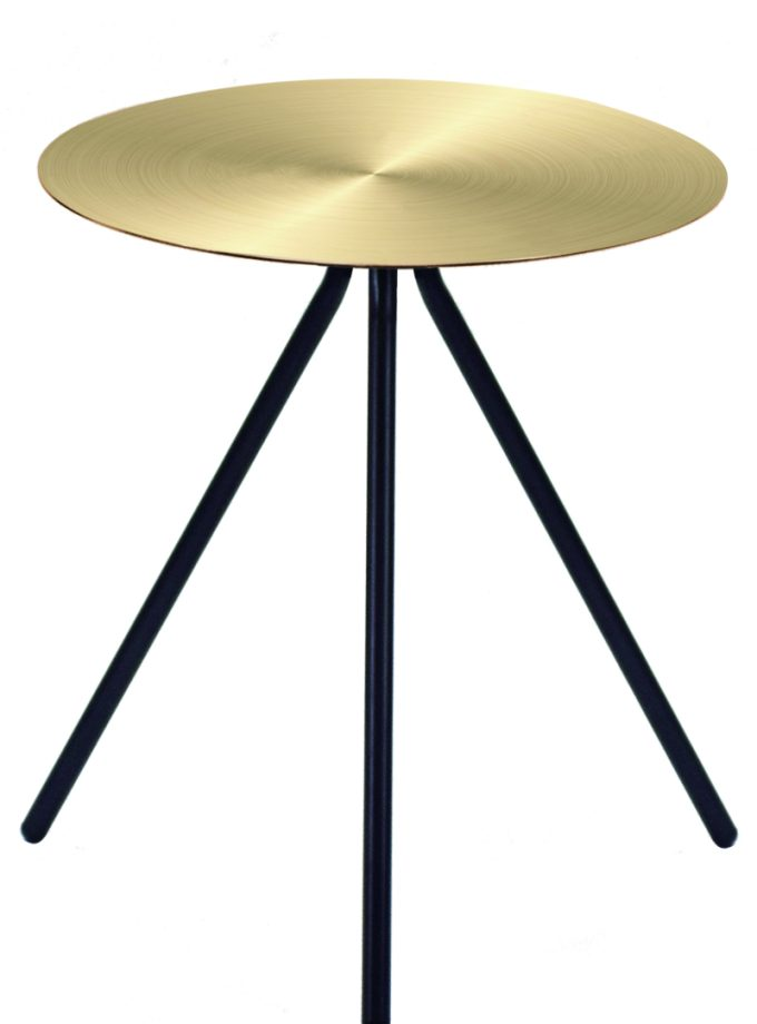 Mesa lateral auxiliar Disco Bronce
