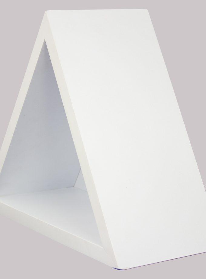 Repisa Flotante Triángular - Blanca