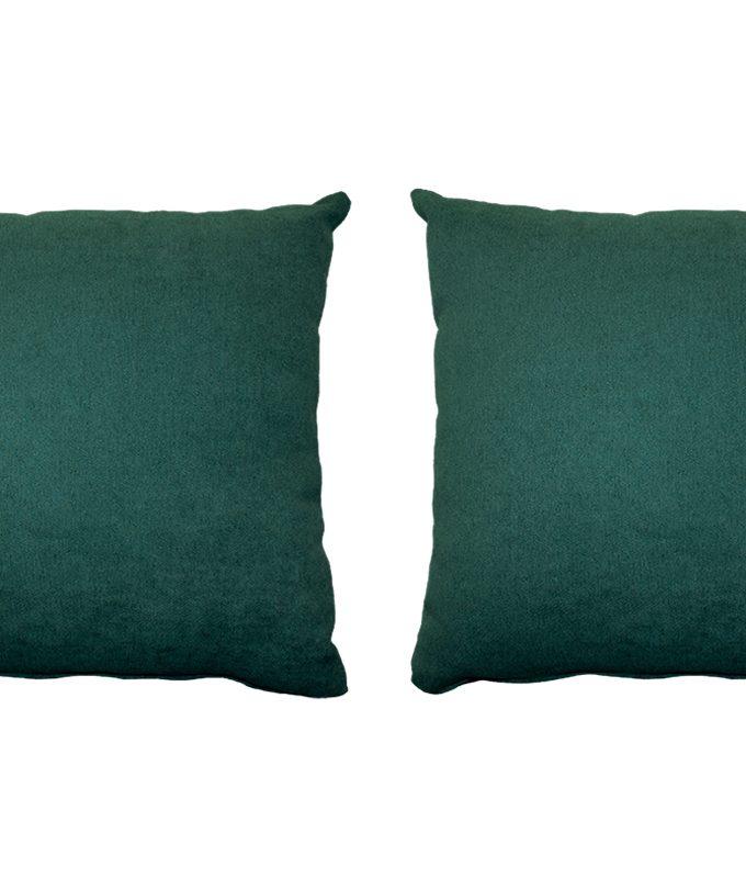 Juego de 2 Cojines lisos 45x45 cm - Verde