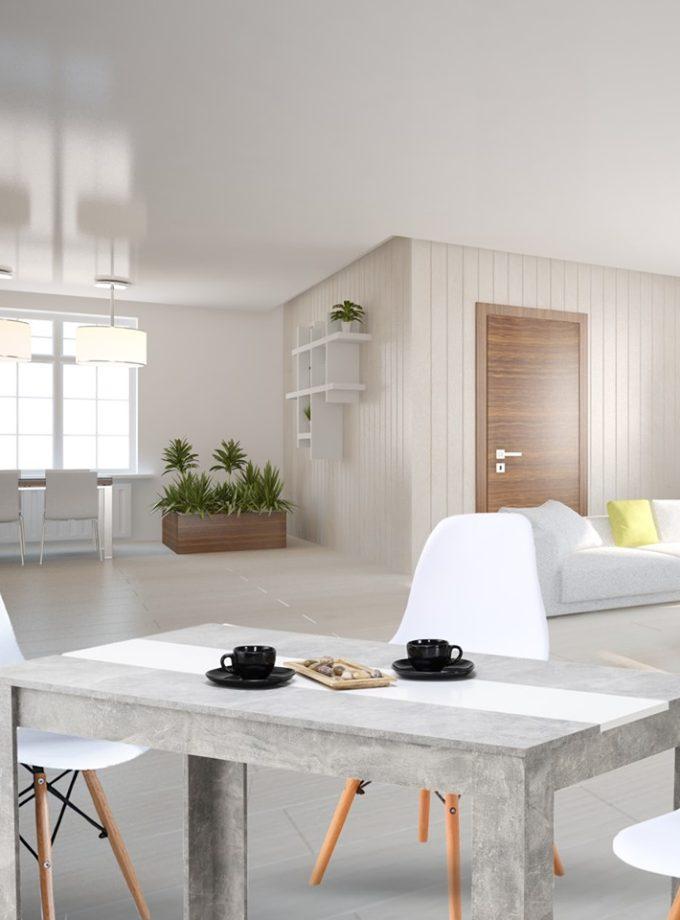 Set de comedor – Mesa Peruggia + 4 sillas réplica Eams