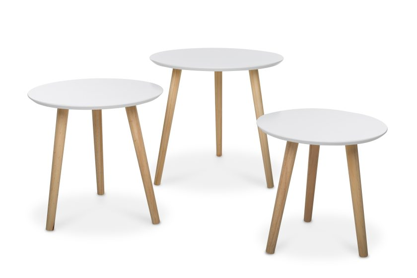 Set 3 mesas lateral Ana blanco