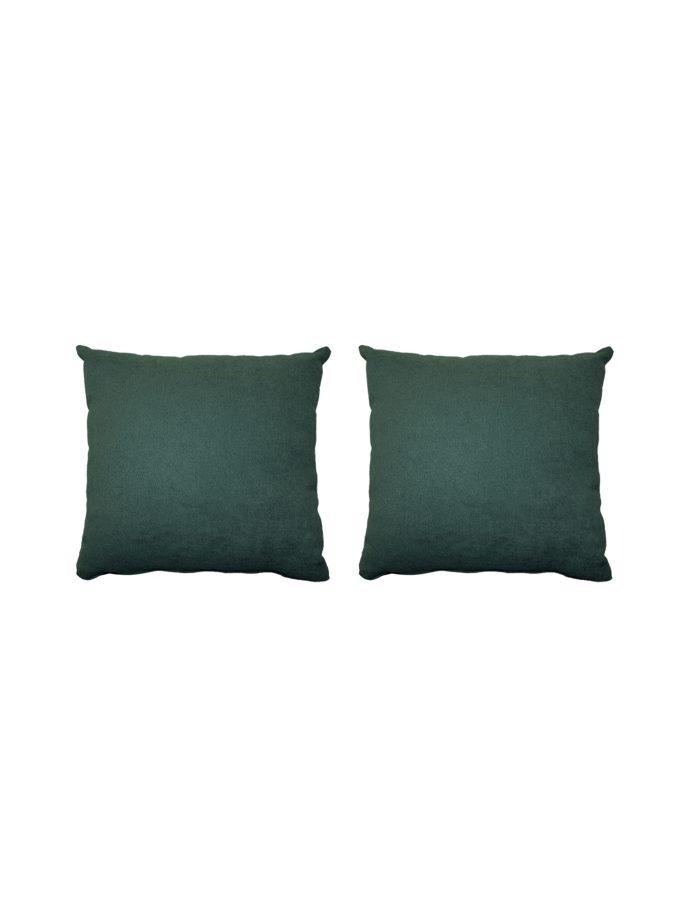 Juego de 2 Cojines lisos 45×45 cm – Verde