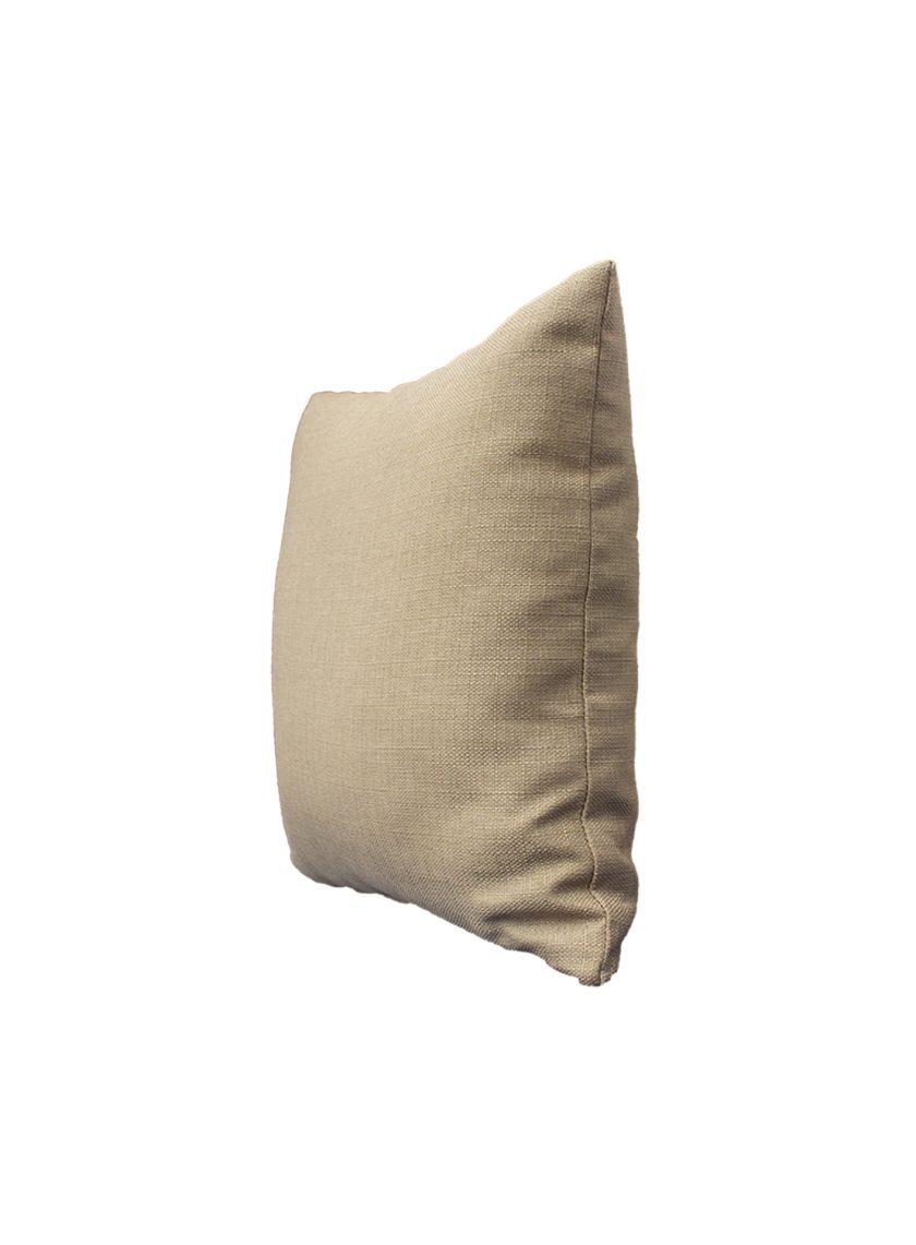 Juego de 2 Cojines lisos 45×45 cm – Beige