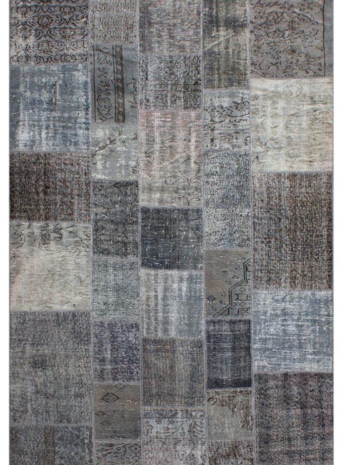 Tapete patchwork turco gris 198×300 cm