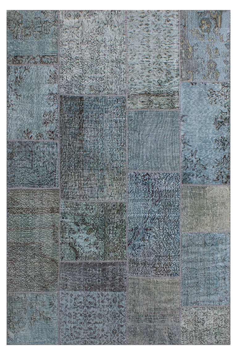Tapete patchwork turco azul 170×240 cm