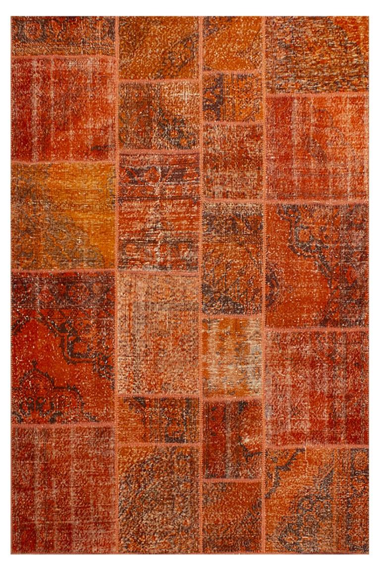 Tapete patchwork turco naranja 170×240 cm