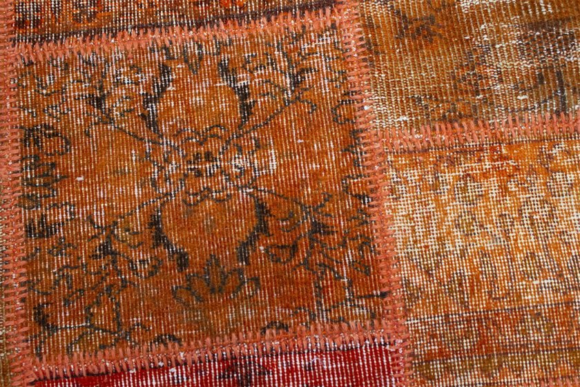 Tapete patchwork turco naranja 202×302 cm