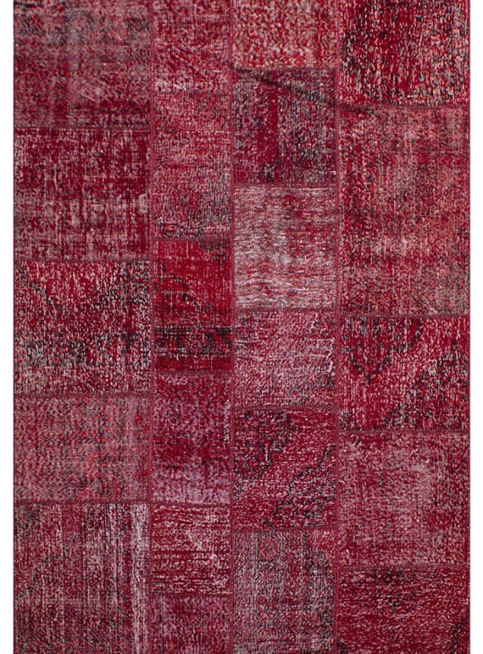 Tapete patchwork turco rojo 170×240 cm