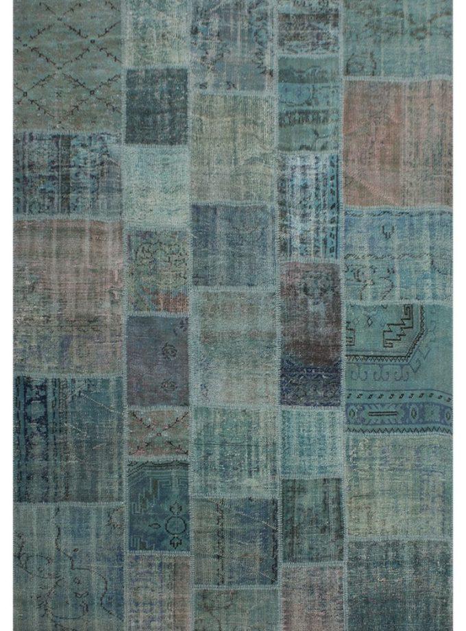 Tapete patchwork turco turquesa 204×298 cm
