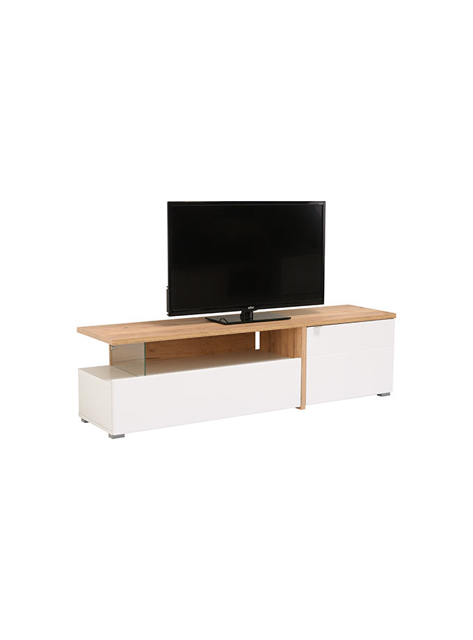 Mesa de Tv Gloria roble blanco