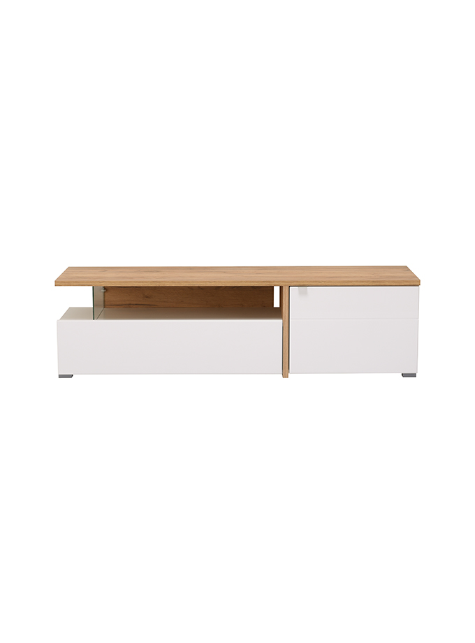 Mesa de Tv Gloria roble blanco PRE VENTA