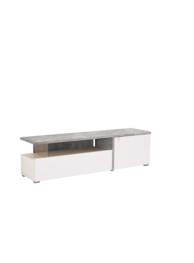 Mesa de Tv Gloria gris blanco