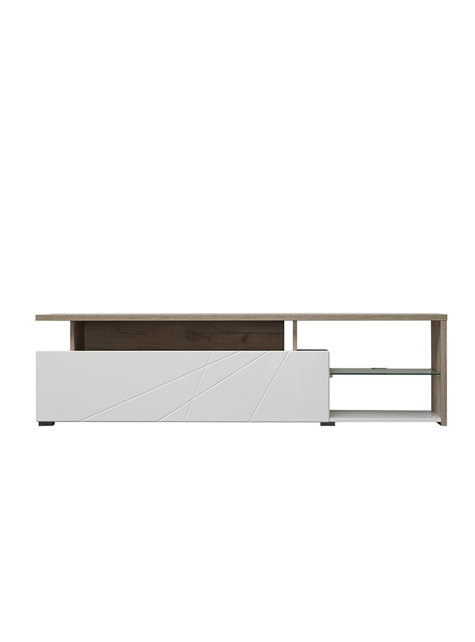 Mesa de Tv Stefan roble/blanco