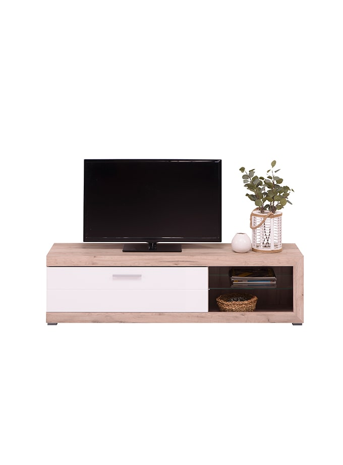 Mesa de Tv Kuca gris/blanco