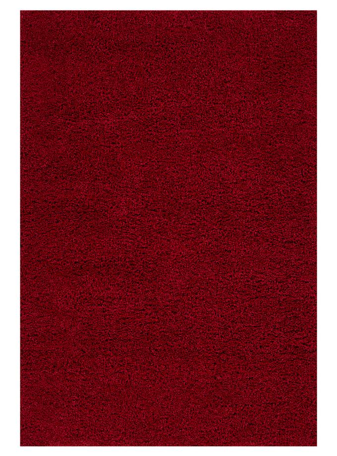 Tapete decorativo Shaggy Lyla shag Rojo